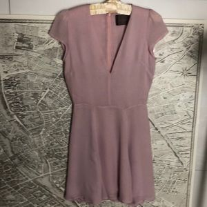 Reformation mini lavander dress size XS